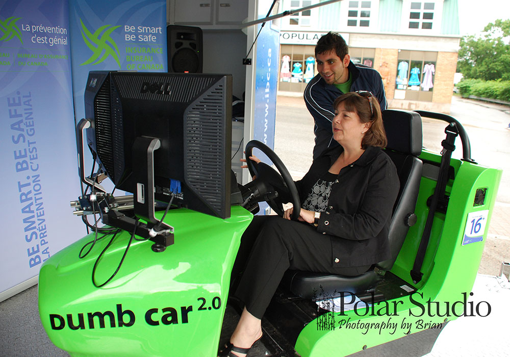 Minister testing the Dumb Car