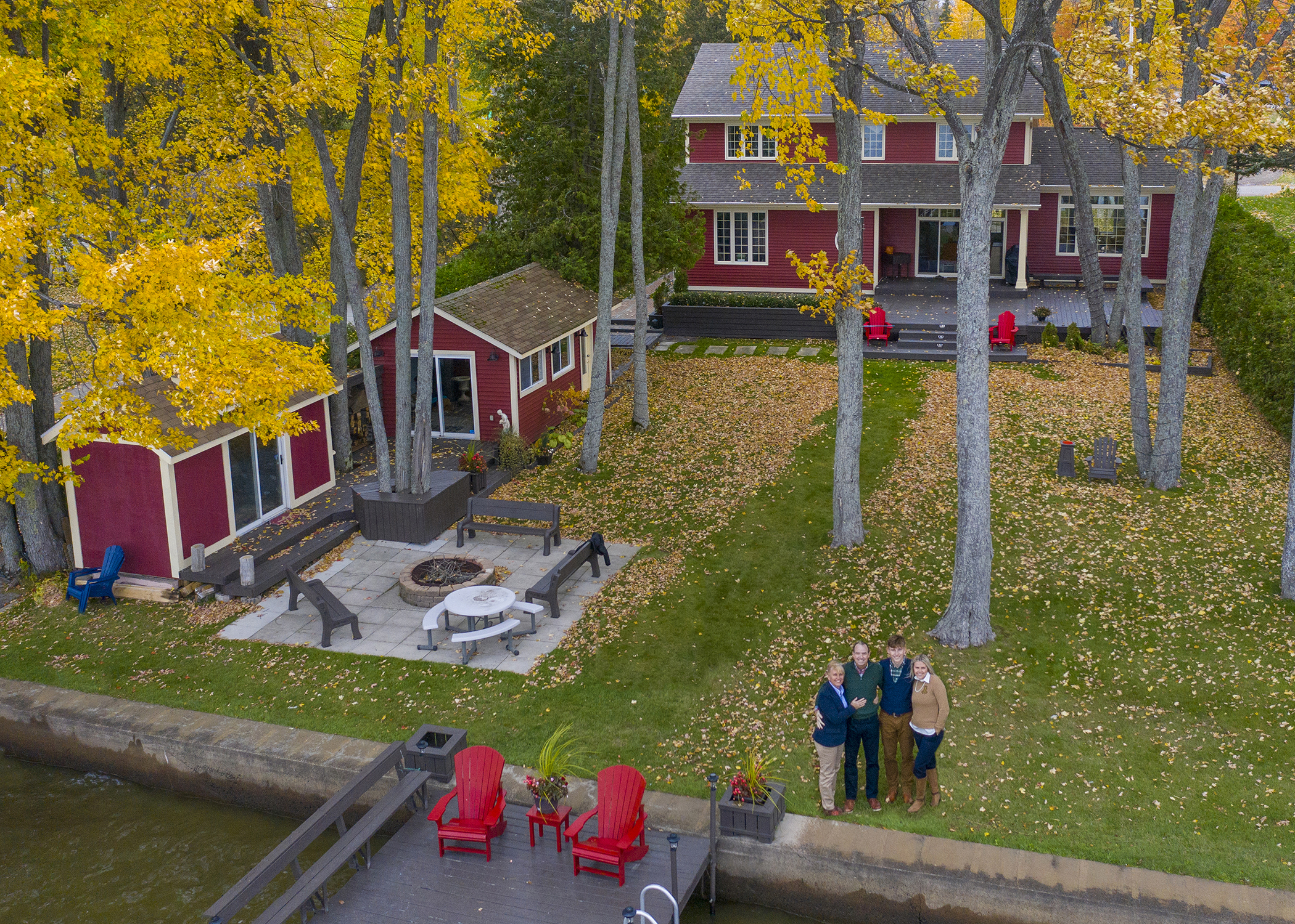 Drone family photo
