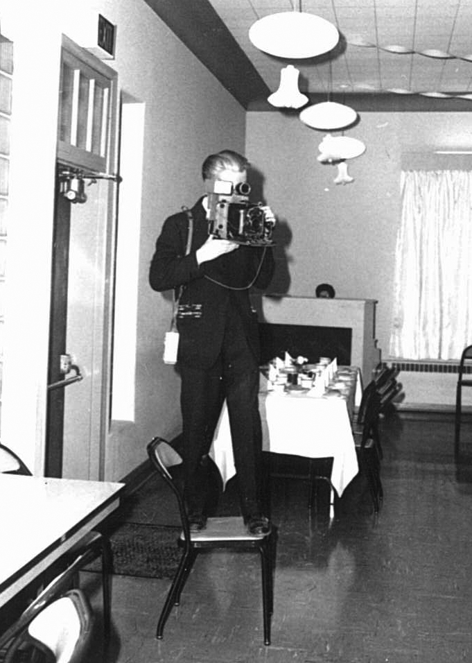 Dad with camera FEB 1955 2